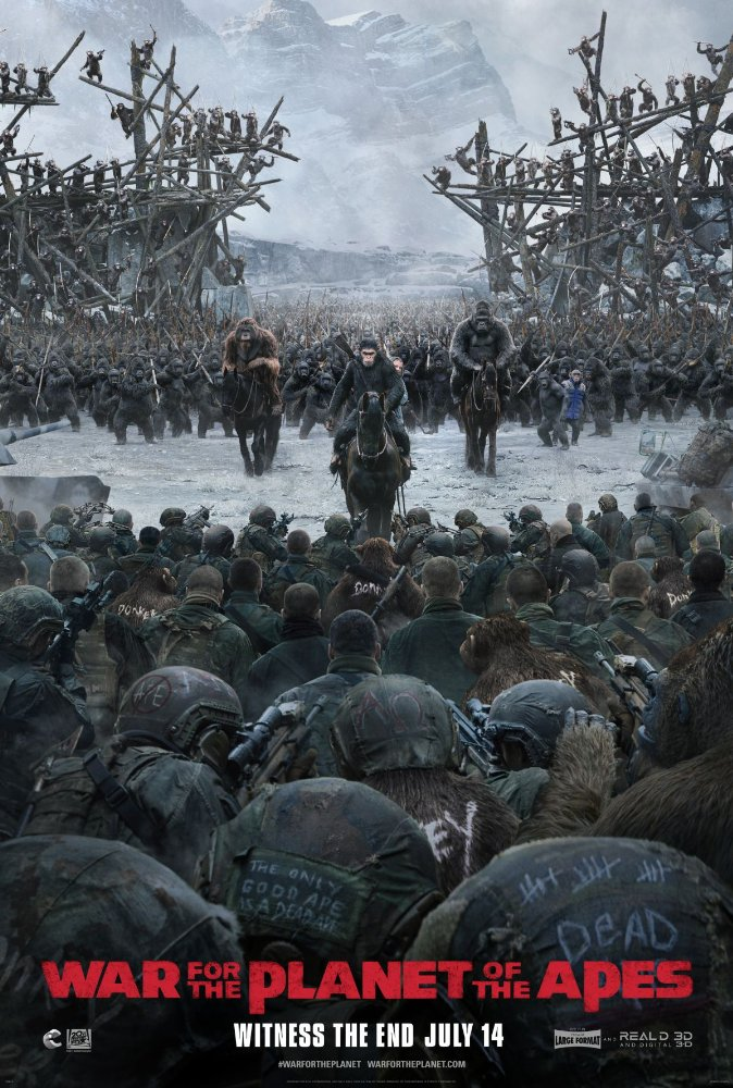 Movie poster for War for the Planet of the Apes
